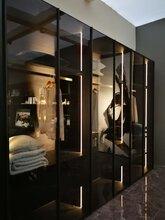 典范极简米兰轴式铰链款铝框玻璃门半成品门