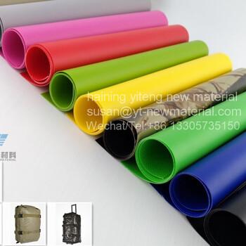 PVC夹网布1000D涂层布户外箱包防水面料加厚涂层布手袋防水布