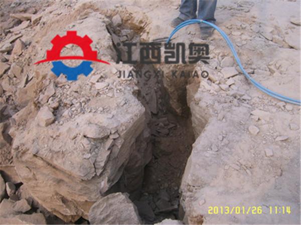 挖机一体劈裂机租赁_大型气压岩石劈裂机破碎石头黄南同仁