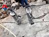 液压爆破设备代替挖机炮锤开挖陕西榆林采石场开采石料劈裂棒
