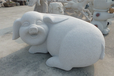 花岗岩石雕猪定制芝麻白石雕猪批发厂家