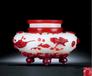 清乾隆的套红料三足炉在北京拍卖还是加拿大私下交易成交价格高