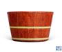 清雍正御制洋彩仿花梨木紋釉瓷桶在北京拍賣會上拍出713萬