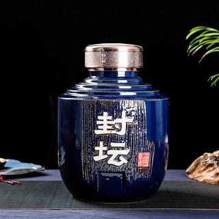 3斤私藏封坛白酒瓶批发、五斤酿酒酒坛图片、订做景德镇陶瓷酒瓶厂家图片1