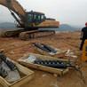 安徽六安礦山花崗巖開采靜態劈石棒能和爆破相對比