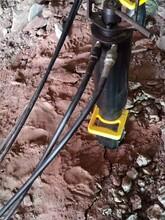 桂林遇硬石头不能放炮岩石开裂机劈石-生产厂家图片