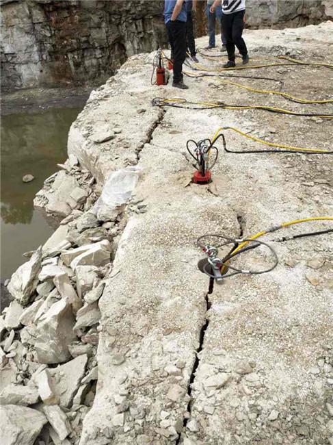 毕节地基开挖专用设备岩石爆破液压劈裂棒一套价格