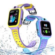 亿星工厂T16深度防水儿童电话手表英文版插卡定位学生电话多功能手表图片