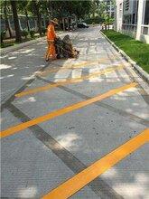 福田最專業的施工劃線道路標線熱熔畫線圖片