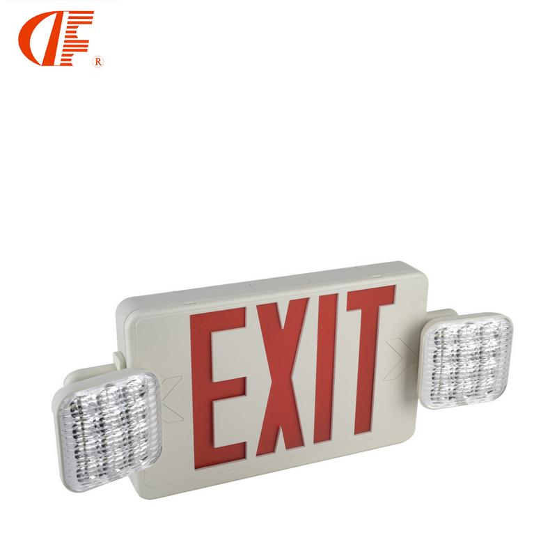 北美应急灯安全出路消防标志灯双头灯UL认证LED应急灯厂家