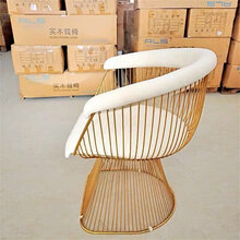 北欧LOFT工业风复古简约现代铁艺沙发洽谈椅BridesVeilChair