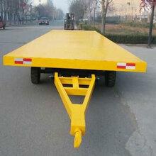 25吨全挂式平板车工厂货物转运叉车重型平板拖车