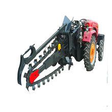 山东锐钢大型链条式开沟机电缆铺设挖沟机农用种植开沟机