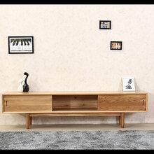 实木家具套房纯实木电视柜双抽电视柜实木视听柜组合图片