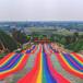 滁州七彩滑道價格進口材質彩虹滑道無動力游樂設備