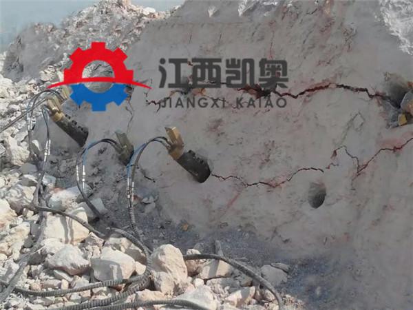 柳州裂石器德国裂石机开挖隧道坚硬岩石头液压裂岩机