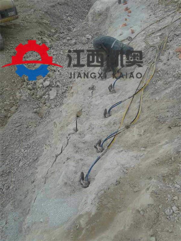 破石器膨胀开石机钢筋混凝土破拆地基致裂器淮南