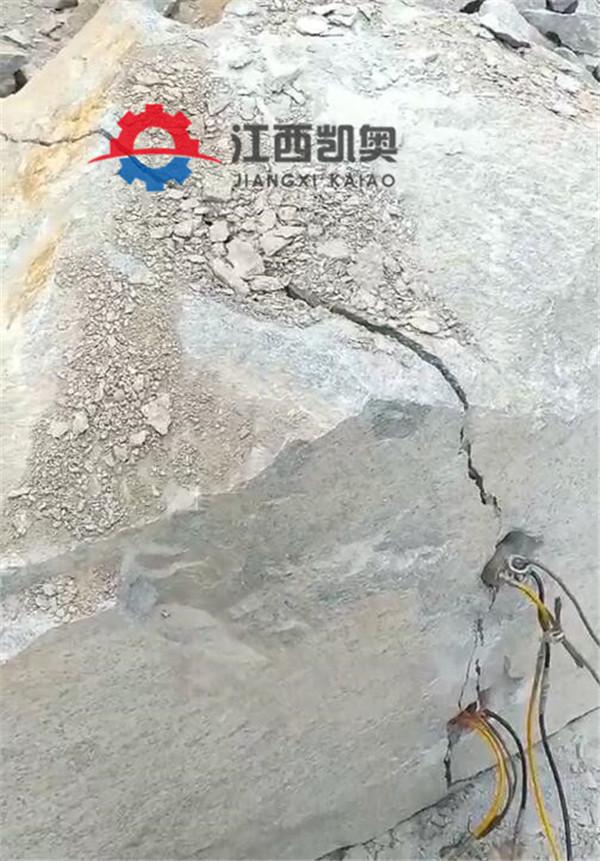 劈裂机厂家直销一台班能干多少石方岩石劈裂机淮北