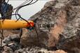 荊州采石機開山破石機破碎錘錘不開石頭怎么辦挖掘機致裂器