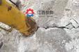 齊齊哈爾大型巖石開采撐石機抗滑樁巖石破除方法巷道鑿石器
