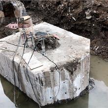 静态爆破桥梁桩基破桩头台州岩石劈裂机万泽图片