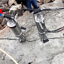 液压劈裂机一天干多少方石头通辽混凝土劈裂机生产厂家图片