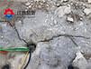 毕节建筑石材开采劈裂棒液压劈裂机一天多少方