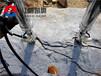 广西来宾岩石霹雳机矿洞掘进不用炸药岩石劈裂机破拆桩头