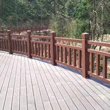 水泥護欄河道仿木欄桿生產廠家圖片