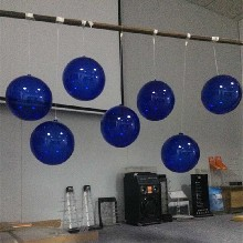 圣誕裝飾透明球娃娃機婚慶吊球六一塑料空心球亞克力櫥窗圓球圖片