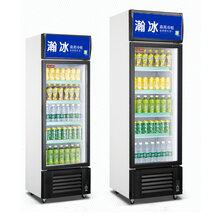 单门立式冷藏展示柜啤酒饮料冰柜瀚冰商用冷柜