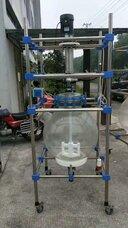 反应釜,玻璃反应釜,单层玻璃反应釜,二手玻璃反应釜