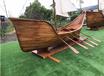 船型花箱舢板船休闲钓鱼船鱼鹰船花船帆船欧式船两头尖木船