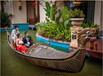 景观船威尼斯尖舟贡多拉船威尼斯贡多拉装饰木船欧式木船手划船