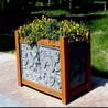 防腐木塑木铁艺不锈钢包边铝合金花槽树槽花槽木花盆户外花箱