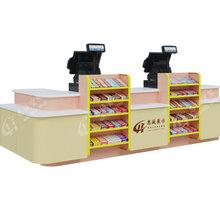 超市便利店收银台展示架柜台水果店收款台药店母婴店收银柜图片