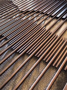 定制不锈钢屏风不锈钢隔断生产加工价格玫瑰金