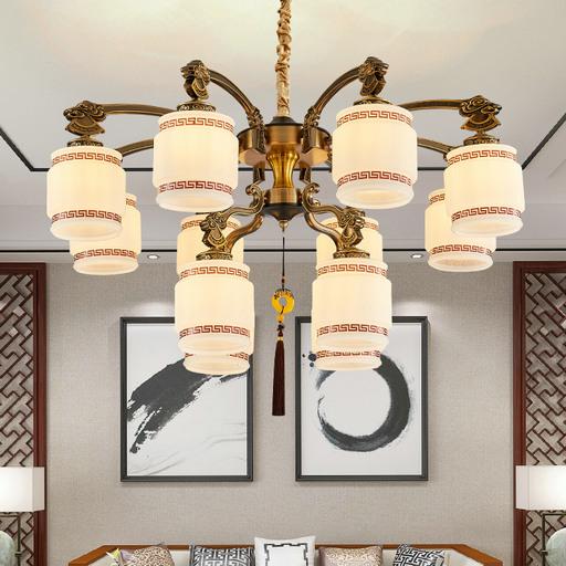 南充灯具套装组合新中式客厅吊灯现代简约中国风卧室餐厅复古家用大气