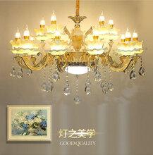 LED吊灯简约现代饭厅餐吊灯创意个性环形轻奢吊线灯具卧室客厅灯图片