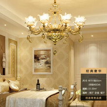 欧式吊灯LED奢华水晶客厅灯别墅复式楼LED吊灯灯饰图片