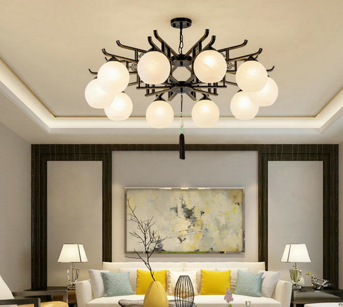 新中式小吊灯餐厅吊灯单头现代灯具禅意灯创意吊灯简约个性中国风