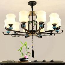 欧式吊灯客厅吊灯简欧餐厅吊灯陶瓷吊灯卧室简约现代大气家用灯具图片