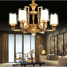 永城市锌合金云石吊灯奢华LED客厅古铜色吊灯现代别墅装饰灯具图片