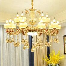 霍邱北欧水晶客厅吊灯现代简约创意个性铁艺吊灯美式酒店餐厅卧室灯具图片