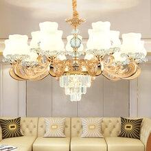 霍邱北歐水晶客廳吊燈現代簡約創意個性鐵藝吊燈美式酒店餐廳臥室燈具圖片