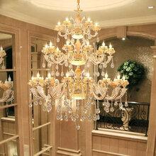 济南美式吊灯客厅吊灯餐厅卧室个性简约现代灯具奢华大气新中式铜灯图片