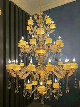 宣城歐式吊燈奢華大氣家用LED燈具簡約現代主臥室客廳吊燈圖片