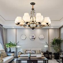 北歐簡約客廳燈后現代創意喇叭吊燈美式大吊燈圖片