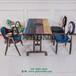 深圳餐廳家具定制復古鐵藝餐桌椅圖片餐廳桌椅價格