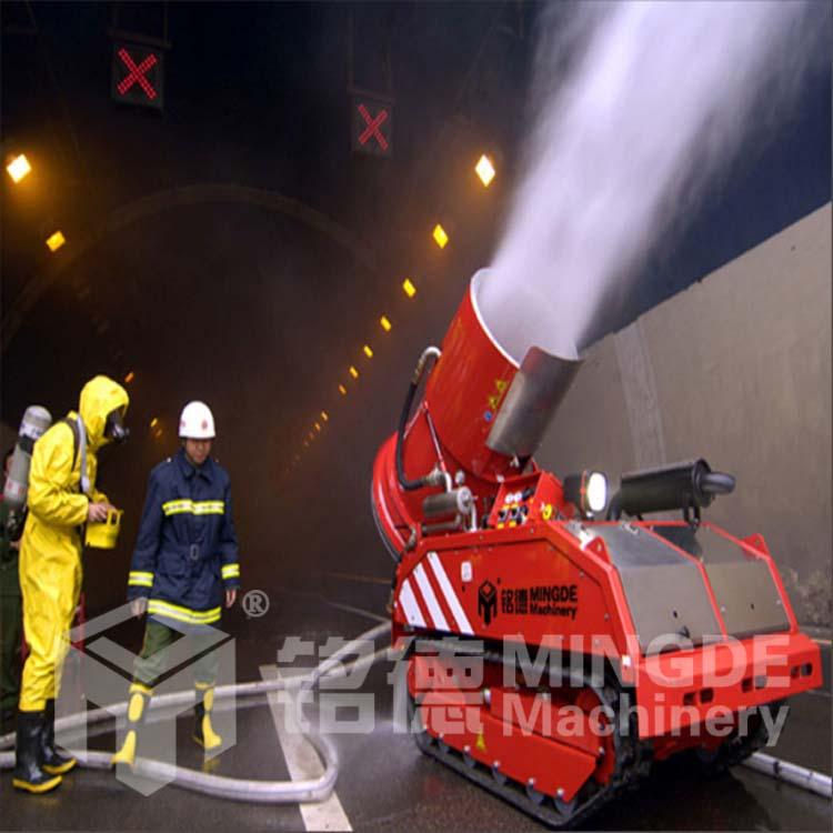 消防机器人视频,热成像排烟机器人,新型消防灭火机器人